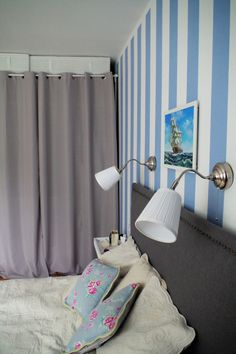 marine bedroom, closet curtains, wordrobe curtain, diy