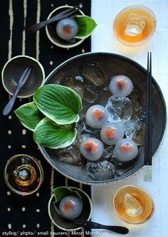 杏と小豆の水まんじゅう