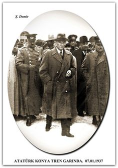 ATATÜRK KONYA TREN GARINDA. 07.01.1937