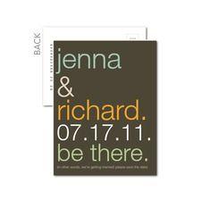 save the dates - wedding paper divas