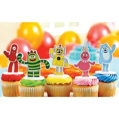 Yo Gabba Gabba! Cake Toppers (set of 5)    $9.99