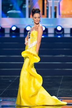 Harry Robles Evening Dress at Miss Universe 2013 Preliminary Voted the 1 Dress of the Competition. Miss Puerto Rico, Monic Perez