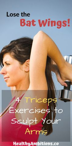 Lose the Bat Wings: 4 Triceps Exercises to Sculpt Your Arms - Fitness and Exercises Body Fitness, Fitness Diet, Health Fitness, Physical Fitness, Workout Fitness, Mens Fitness, Wings Workout, Bicep Muscle, Triceps Workout