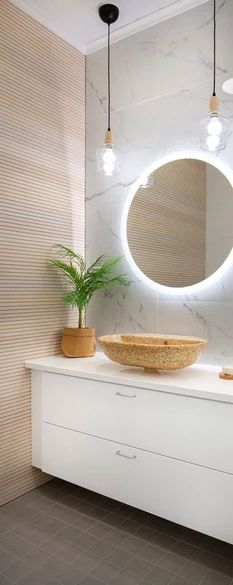 | Kouvolan Asuntomessut 2019 Bathroom Toilets, Laundry In Bathroom, Small Bathroom, Bathroom Design Inspiration, First Apartment, Sustainable Living, Sweet Home, House Design, Interior Design
