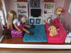 American girl living room