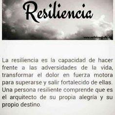 Resiliencia... superación...fortaleza...inspiración...😌🙌🏻