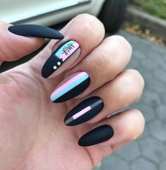 Long Nails Design Ideas You Should Try Today The most memorable and attractive ones will be the stylish long nail design. Drawing and painting on the long nails. And you can turn any design you like into reality. Romantic patterns, beautiful l. Nail Art Designs, Long Nail Designs, Winter Nail Designs, Acrylic Nail Designs, Nails Design, Nail Manicure, Manicures, Gel Nails, Coffin Nails