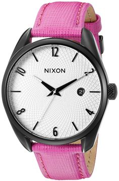 Nixon Women's A4732049 Bullet Leather Analog Display Japanese Quartz Pink Watch ** Find out more about the great watch at the image link.