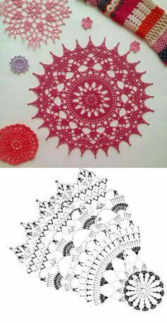 Free Crochet Doily Patterns, Crochet Fabric, Crochet Tablecloth, Crochet Home, Love Crochet, Crochet Doilies, Crochet Flowers, Knitting Patterns, Knit Crochet