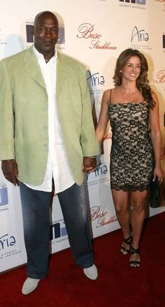 Pro basketball player, Michael Jordan with wife Yvette.