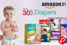 Amazon UPTO 30% off on Diapers. Huggies, MamyPoko, Pampers, Libero on Brands.  http://www.paisebachaoindia.com/diapers-upto-30-off-huggies-mamypoko-pampers-libero-amazon/