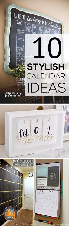 Clear calendars make it easy for the whole family! Check out these 10 calendar ideas