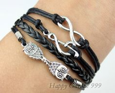 Infinity Music character Bracelet & Owl Charm by happygarden999, $5.99