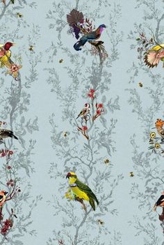 Just gorgeous hand printed Timerous Beastie wallpaper, at £300 a roll it is out of my price range!