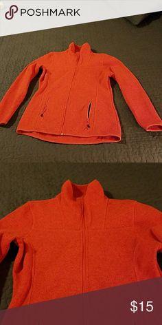 Orange - Like New - Full Zip Fleece interior Head Tops Sweatshirts & Hoodies