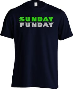 Seahawks Mens Shirt - Sunday Funday Sunday Funday Shirt 4731fdb26