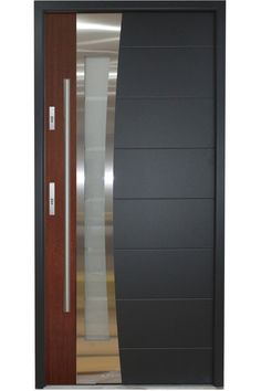 Modern Exterior Metal Doors modern exterior doors: stainless steel modern entry door with