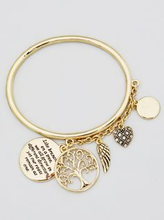 ForeverFinds.com - Tree Of Life Heart Grow Strong Bangle Bracelet