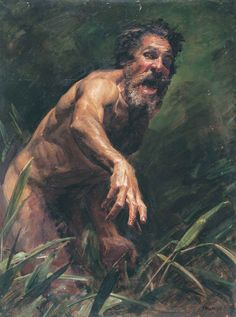 Robert Hannaford (1944 - ) | Self Portrait as a Wild Man