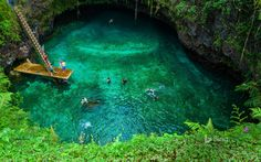 """To Sua"" means ""big hole"" and is located on Samoa's Upolu island. One must…"