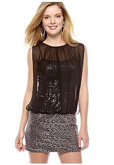 Hailey Logan Sequin Blouson Dress #belk