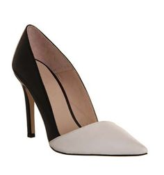 Office Jilly Court Black White Leather - High Heels