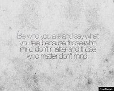 Who and what matters