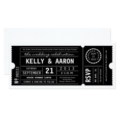 Shop Vintage Playbill Theater Ticket Wedding Invitation created by LetterBoxInk. Invitation Ticket, Invitation Baby Shower, Zazzle Invitations, Invitation Design, Invitation Cards, Invite, Corporate Invitation, Event Invitations, Vintage Wedding Invitations