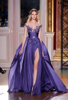 PURPLE wedding dress -  incorporate some white and have the bridesmaids wearing white with purple shoes