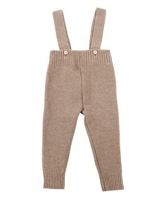 Look at this Mole - Little Norway Light Brown Wool-Blend Suspender Pants - Infant & Toddler on #zulily today!