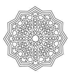 Mandala de la Alhambra para colorear con ejemplo