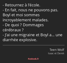 Teen Wolf Scott, Best Tv Shows, Movies And Tv Shows, Citations Film, Sterek, Dylan O'brien, Migraine, Movie Quotes, Constellations