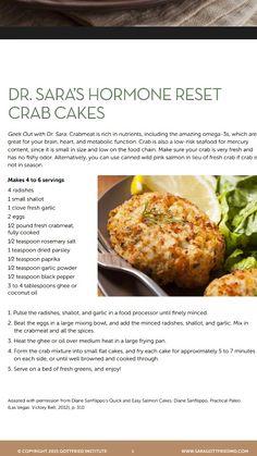 Dr. Sara's Hormone Reset Crabcakes