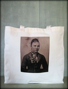 Tintype Tote  Pretty Lady With Braided Hair by ScarlettSlipper