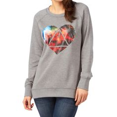 Burton Mid Mystic Sweatshirt - Heather Pewter | Free UK Delivery