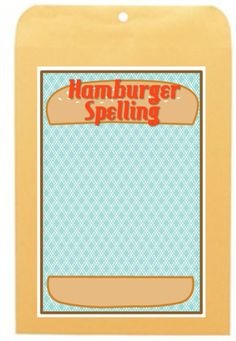 Hamburger Spelling - a free resource for Daily 5