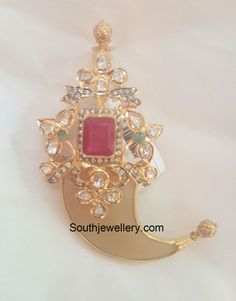 puligoru Indian Jewellery Design, Latest Jewellery, Indian Jewelry, Jewelry Design, Gold Fashion, Fashion Jewelry, Gold Pendent, Gold Chains For Men, Simple Jewelry