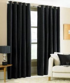 Shop for FlamingoP Room Darkening Soild Grommet Curtain Drapes Get free delivery On EVERYTHING* Overstock - Your Online Home Decor Outlet Store! Thick Curtains, Kids Curtains, Cool Curtains, Lined Curtains, Grommet Curtains, Blackout Curtains, Window Curtains, Valances, Navy Curtains