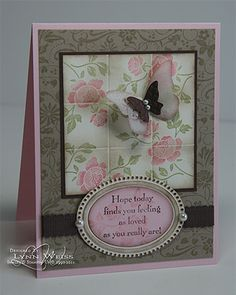 Rose Tiles - Love the design & the colors, the stamping & the 'inking/shading'....need to try this!