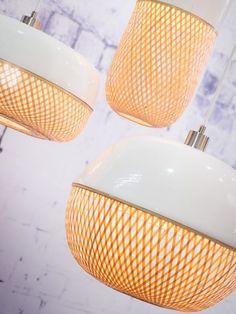 It's about RoMi Hanglamp Mekong? Bamboo Pendant Light, Bamboo Lamp, Pendant Lamp, Pendant Lighting, Ibiza, It's About Romi, Lighting Concepts, Suspension Design, Luminaire Design