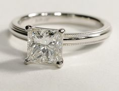 1.71 carat princess cut engagement ring