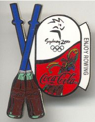 SYDNEY 2000 OLYMPICS COCA COLA SPORTS PIN -- ROWING