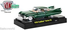 1959 Cadillac Series 62 M2 Machines DETROIT CRUISERS 1:64 Scale RELEASE 2 Green