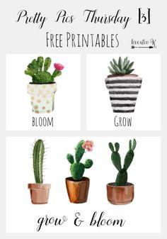 Pretty Pics Thursday [3] free printables