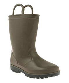 Love this Green Opaque Rain Boot by Capelli New York on #zulily! #zulilyfinds