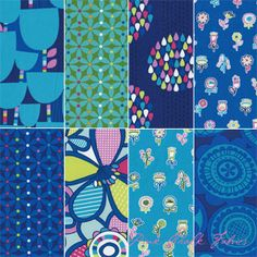 Erin McMorris Summersault Lake Fat Quarters - apparently I like blue!