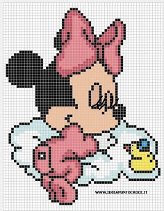Baby Minnie cross stitch | punto croce minnie
