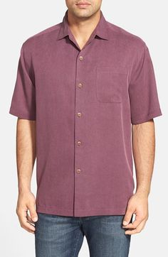 Tommy Bahama 'San Clemente' Original Fit Silk Campshirt Chandler Bing, San Clemente, Relaxing Day, Tropical Vibes, Tommy Bahama, Men Casual, Nordstrom, Silk, The Originals