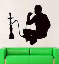 Wall Stickers Hookah Smoking Arabic Cafe Vinyl Decal (ig2378)