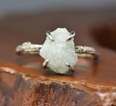 4.67 Carat Large Rough Diamond Engagement by PointNoPointStudio